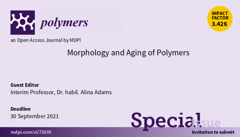 Banner of call for papers for special edition of journal polymers